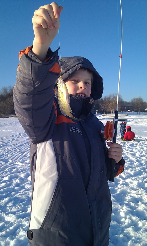 Bode with a Bluegill