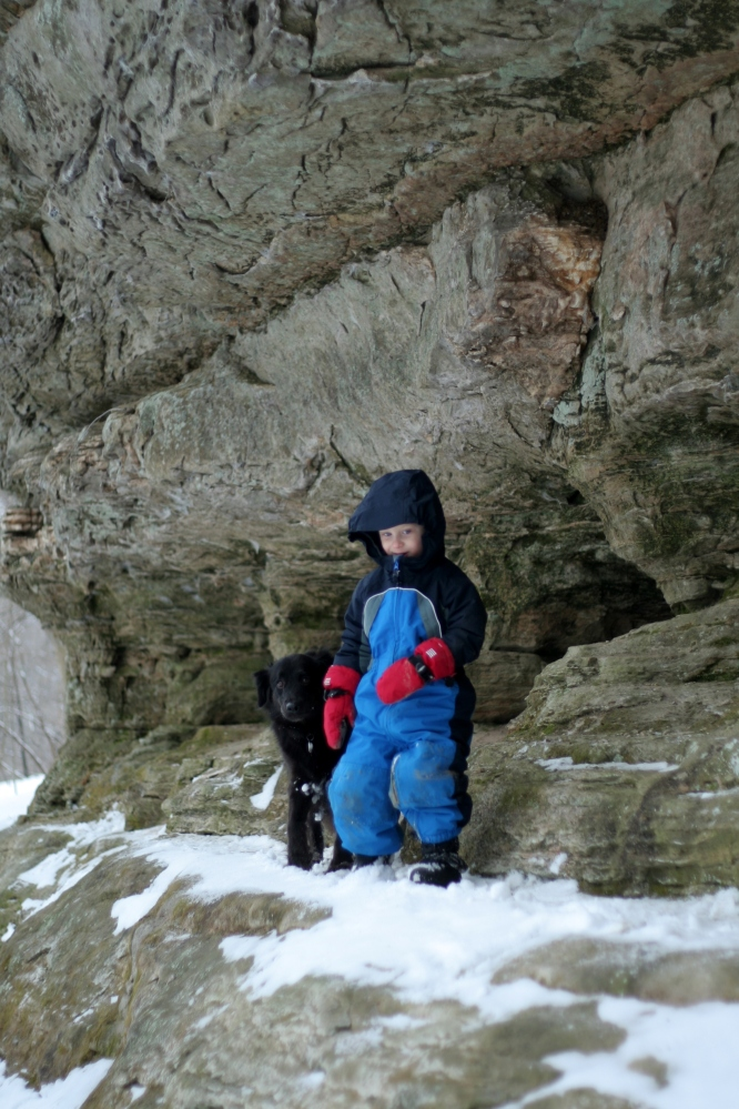 Shepard with his dog at Pewit's Nest