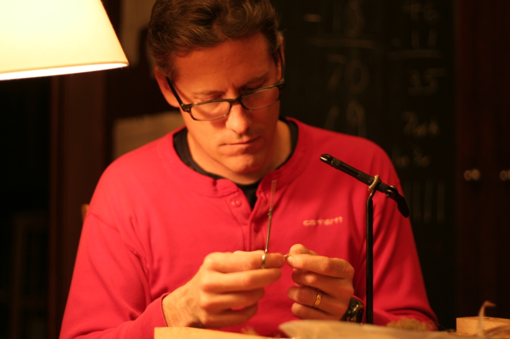 Stephen Rose Tying a Scud Patter