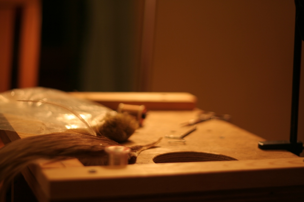 A fly tyer's tools