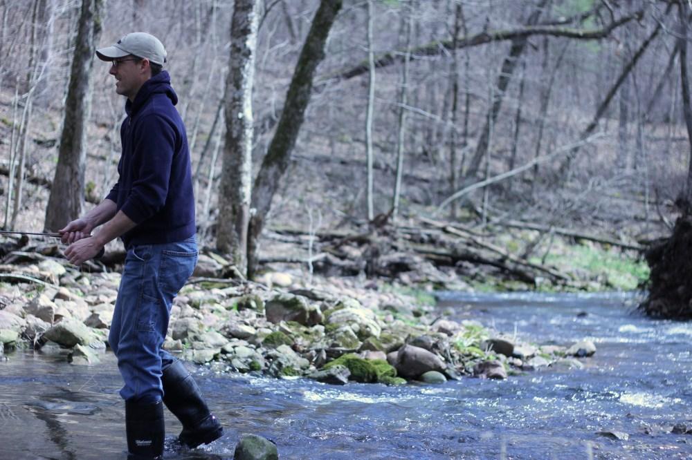 Stephen Fishing a Baraboo area stream