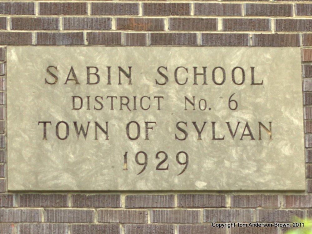 Sabin School, Sylvan, WI