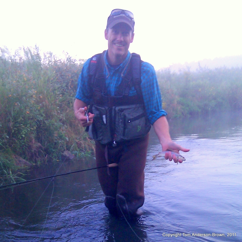 Stephen Rose with a hopper-caught Brown Trout
