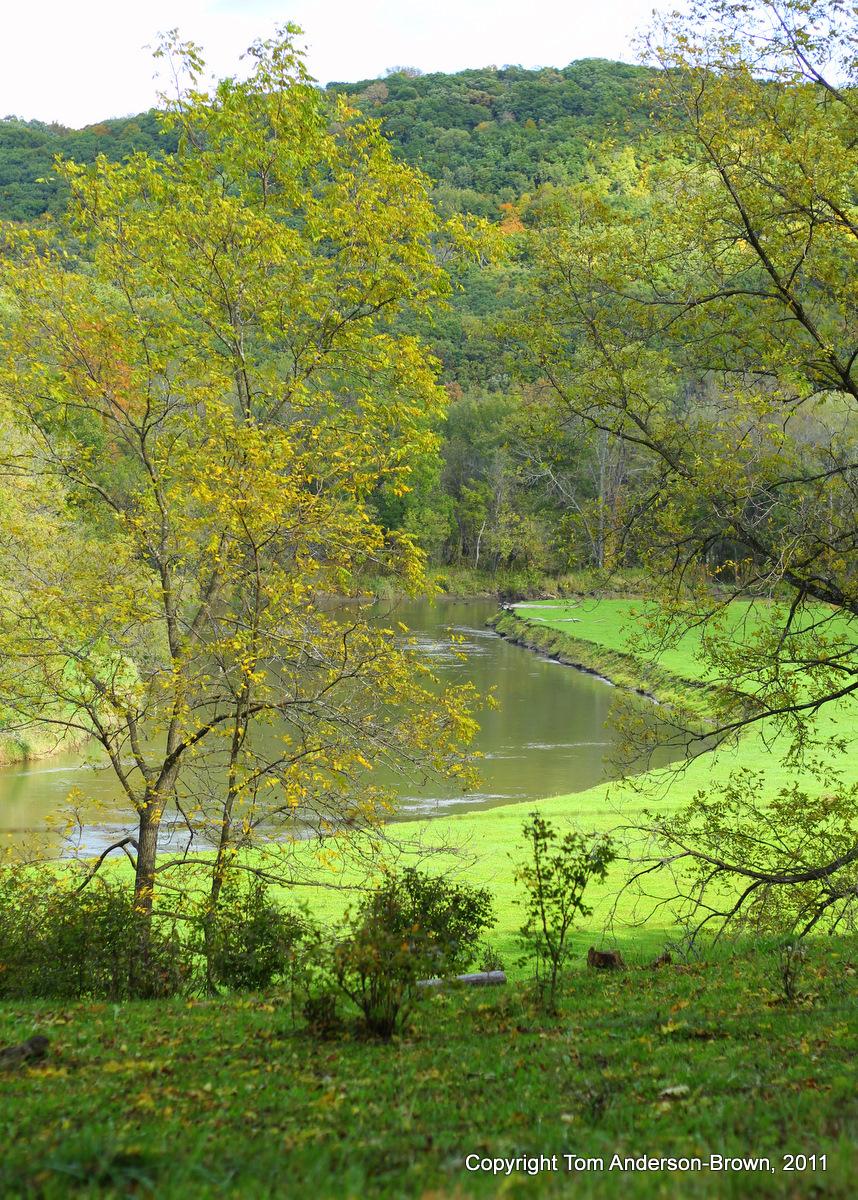 The Kickapoo River, Crawford County, Wisconsin