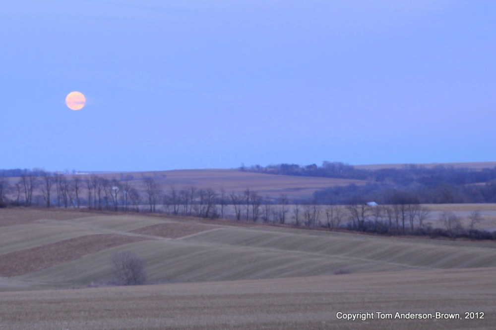 Moonrise over Lafayette County, Wisconsin