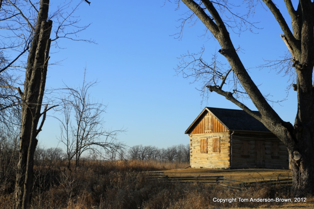 An old cabin along the Scuppernong River below Paradise Springs, Wisconsin