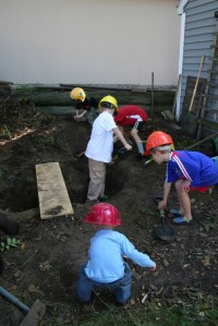 Let's dig a hole in the backyard! (Madison, WI 2009)