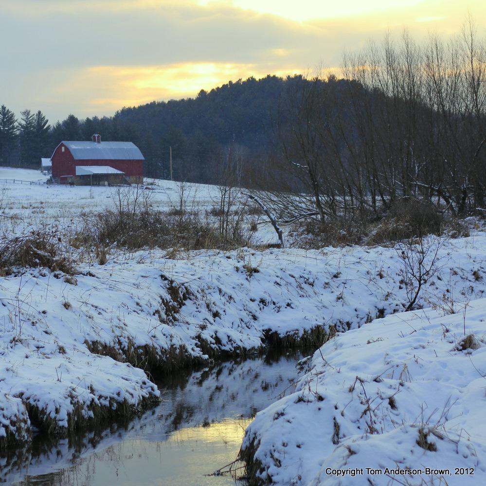 Flint Creek, Iowa County, Wisconsin, at sunrise.