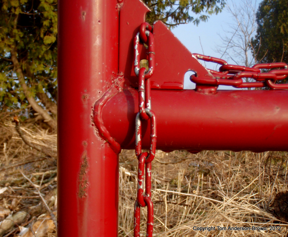 Red Livestock Gate, Driftless, Wisconsin