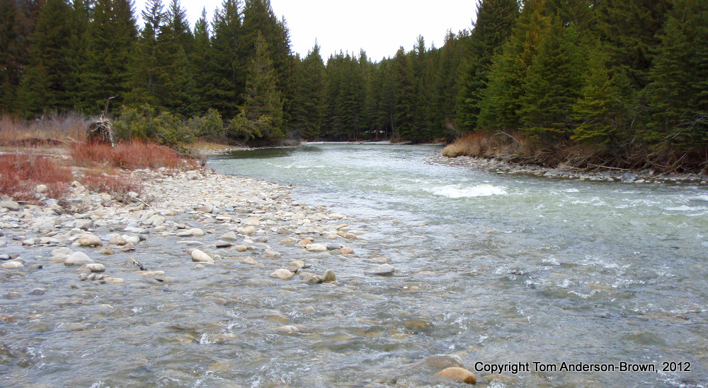 The Gallatin River near Big Sky, Montana