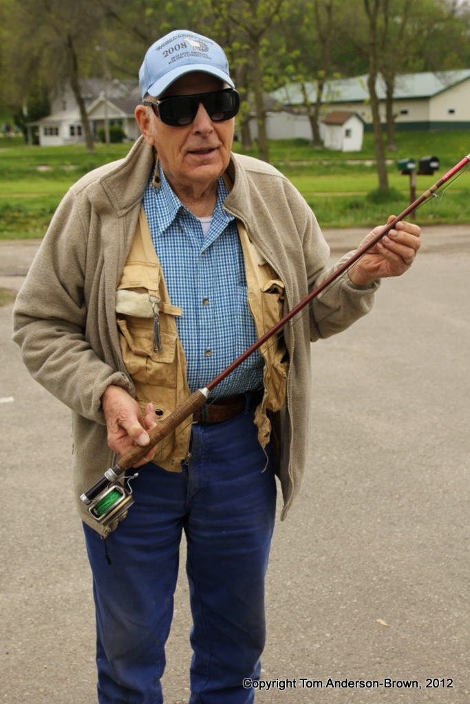 90 year-old Clarence Olsen of Westby, Wisconsin