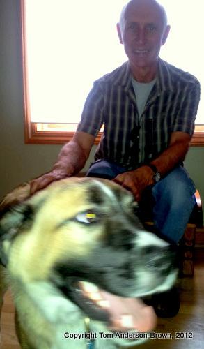 Lee Swenson and Louie in Cedarburg, WI
