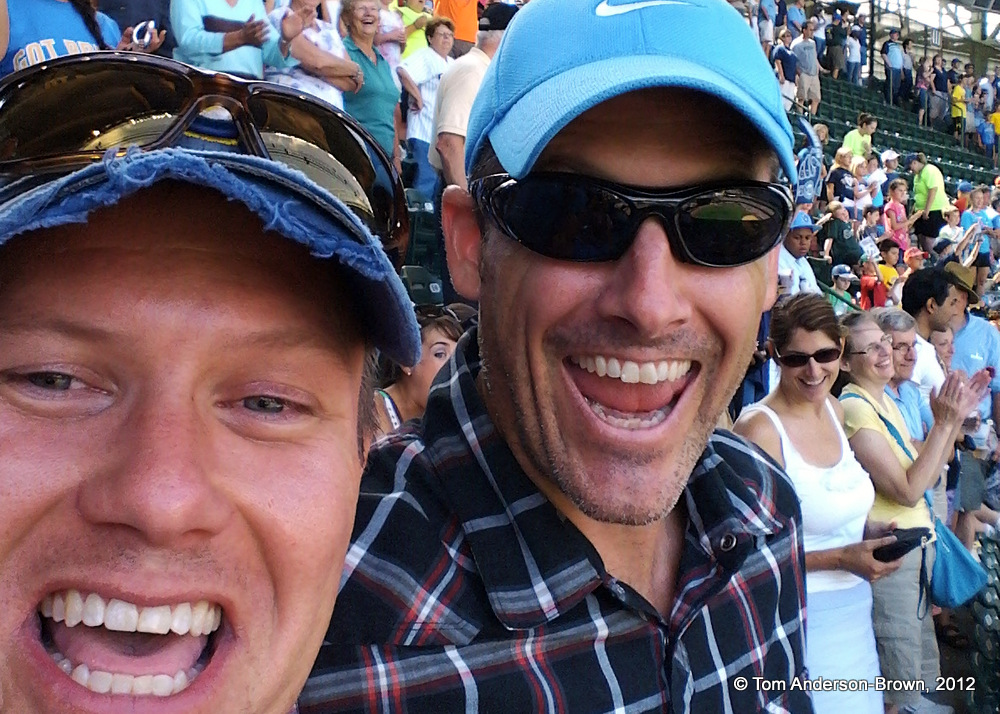 Me and my friend, Stephen Rose on July 18, 2012