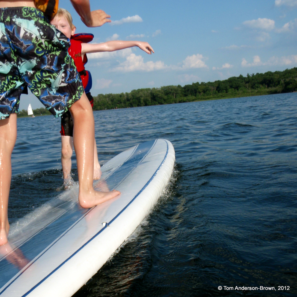 Paddleboard Battles on Wingra