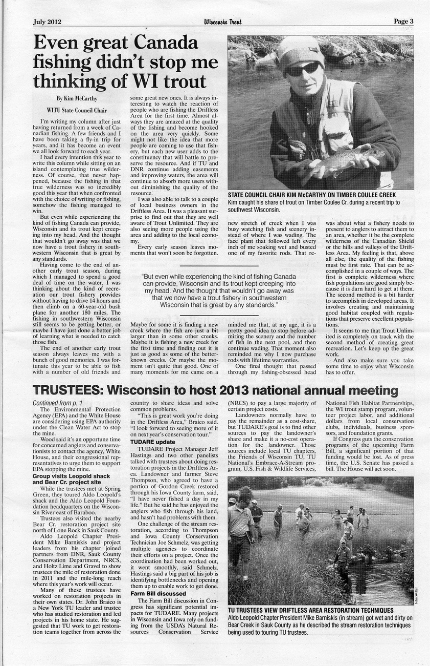 Wi Trout Unlimited July 2012 Page 3