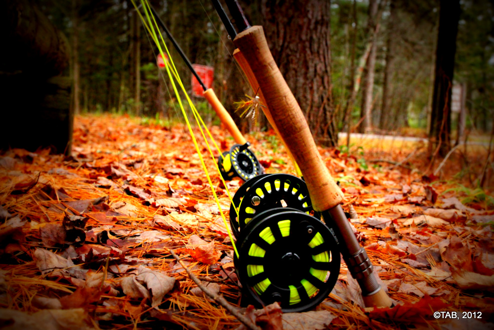 8-wt rods stand at the ready