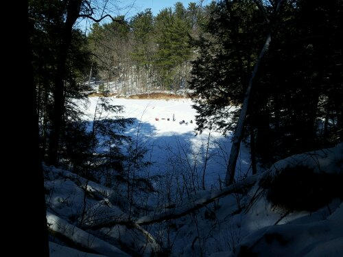 Walking By Wingra Creek In Snow >> Ice Fishing Seeking Trout