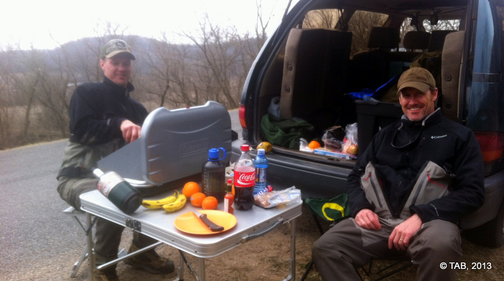 Lunch on the road.