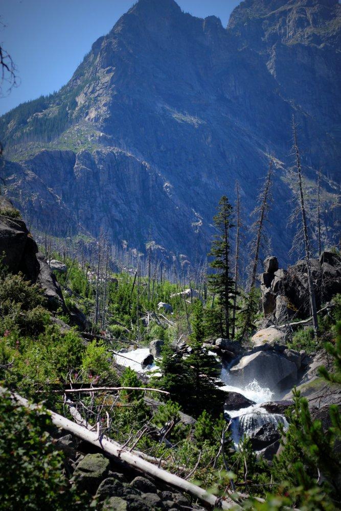 East Rosebud Creek tumbles downhill