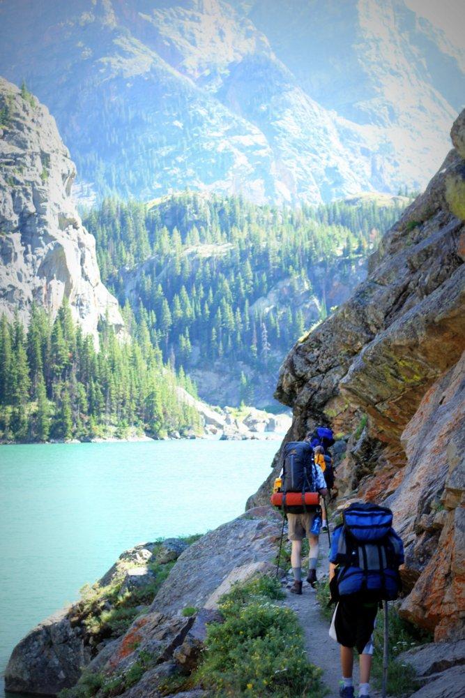 "Hiking the ""Rimrock"" above Rimrock Lake, East Rosebud Trail"