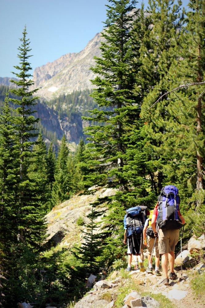 Pushing up the East Rosebud Trail toward Lake-At-Falls
