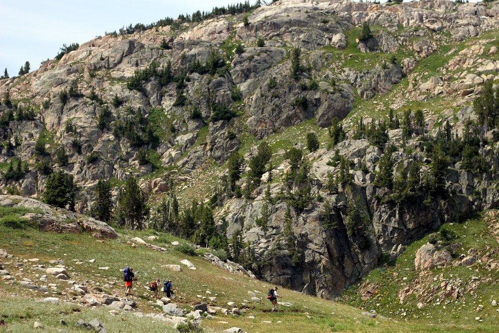 Onward through stunning alpine meadows, East Rosebud Trail