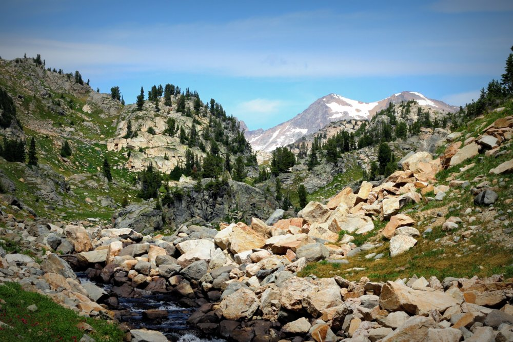 Granite Peak (?) fades from view, East Rosebud Trail