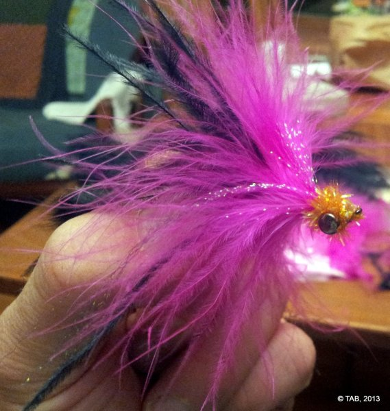 "Tom's ""Olde Seminal Vesicle"" Steelhead Intruder fly"